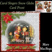 Carol Singers Snowglobe Card Front