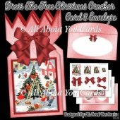 Dress The Tree Christmas Cracker Card & Envelope