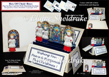 Choir Boys Pop-Up Box Card Kit & Matching Envelope