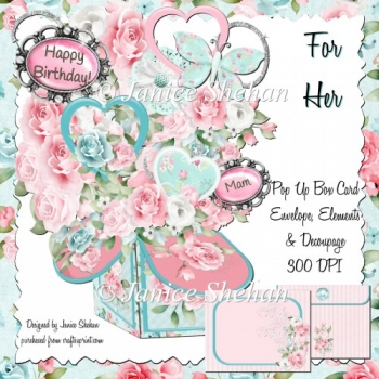 FOR HER MOTHERS DAY BIRTHDAY - 3D POP UP BOX CARD KIT