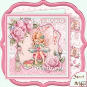 Fairy Bookworm 8x8 Decoupage Kit