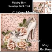 Wedding Shoe Decoupage Card Front