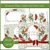 Christmas Robin Double Fold Back Card