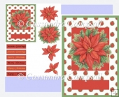 Poinsettia Christmas Card Topper
