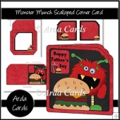 Monster Munch Scalloped Corner Card