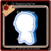 851 Boy Shaped Card *Multiple MACHINE Formats*