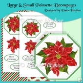 Large & Small Poinsetta Decoupages