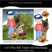 Let's Play Ball Topper and Decoupage