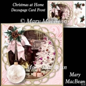 Christmas at Home - Decoupage Card Front