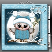 Olivia Owl With Mistletoe Mini Kit