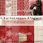 "Red Christmas background paper 12""x12"" inch"