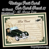 Vintage Post Card Car Card Front 17