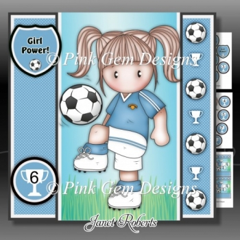 Football Chloe Pale Blue Mini Kit With Ages 3 to 7 yrs