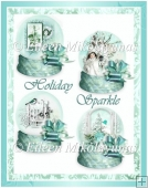Holiday Sparkle Snow Globes Set for Toppers/ Inserts/Crafts