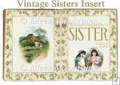Vintage Sisters Open Book Card Insert