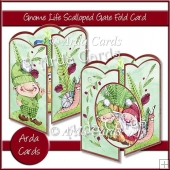 Gnome Life Scalloped Gate Fold Card