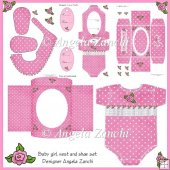 BABY GIRL VEST CARD SET