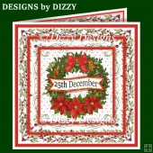 Christmas Wreath Layered Card