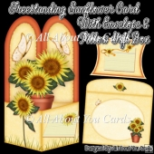 Freestanding Sunflower Card & Envelope & Pillow Gift Box