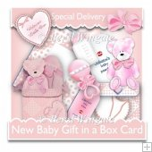 New Baby Girl Gift in a Box Card