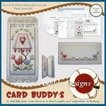 Home Is Where Rounded Corner Fold Card Kit