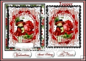 Special Delivery Valentine Card Topper with Decoupage