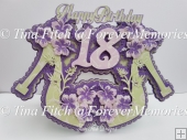 18th Shoe Card Topper, SVG, MTC, SCAL, CAMEO, CRICUT, ScanNCut