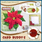 Poinsettia Shaped Fold Card Kit