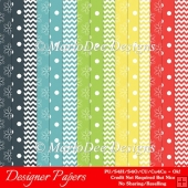 Day Outside A4 size Digital Papers Package