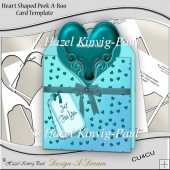 Heart Shaped Peek-A-Boo Card Template