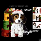 Christmas Beagle Shaped Card