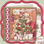 Cats Up the Christmas Tree 7.5 Decoupage Kit