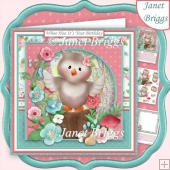 WHOO HOO IT'S YOUR BIRTHDAY 8x8 Decoupage & Insert Kit