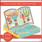 Hot Air Bear Open Book Easel Card With Drawer