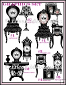 Victorian Furnishings Commercial Use Clipart Set