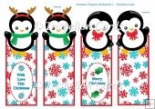 Adorable Christmas Penguins Bookmarks 2