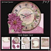 Christmas Clock Stepper Card Kit With Envelope 936