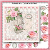 Roses And Cart Card Front