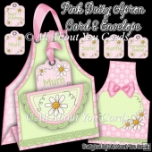 Pink Daisy Apron Card & Envelope