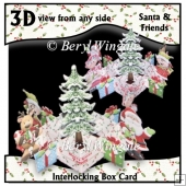 Interlocking Box Card Santa & Friends