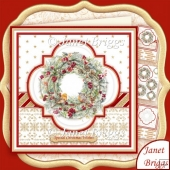 Christmas Robin Wreath 8x8 Pyramage Kit