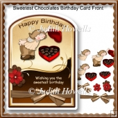 Sweetest Chocolates Birthday Card Front
