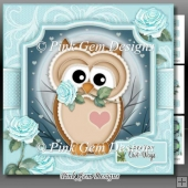 Love You Owl Ways Blue Mini Kit