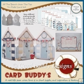 At The Beach Over The Top Tri Fold Card Kit