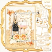 CHAMPAGNE CELEBRATIONS GOLD A5 Decoupage & Insert