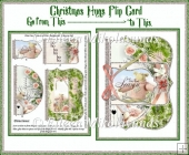 Christmas Hugs Flip Card Set