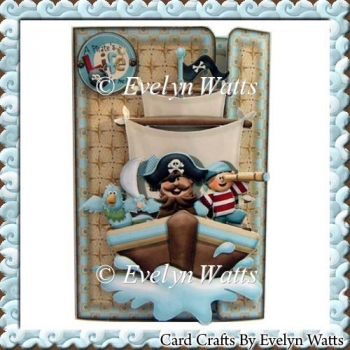 Pirates Life For Me Off Set Gatefold Card Kit