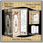 Cameo Corner Card - The Cat's Whiskers