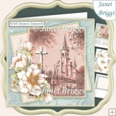 SYMPATHY CHURCH & FLORALS 7.5 Decoupage & Insert Kit
