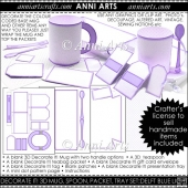 Decorate It! Blank 3D Mug Sets: Lilac